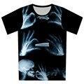 2016 nova crânio de fumo Pizza Galaxy camiseta gato dos desenhos animados t-shirt camisa dos homens / mulheres moda T Camisetas de manga curta Casual Tops camisas