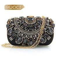 RUOCI Brand Dinner Bag For Women Embroidered Sewing Shoulder Bag Jewel Evening Bag Banquet Handbag Lady Girls Fashion Clutch Bag