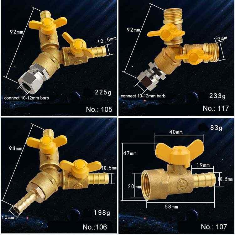 """Латунный шаровой газовый клапан G1/2 """"BSPP для газа жидкой воды вкл/выкл газовый клапан"""
