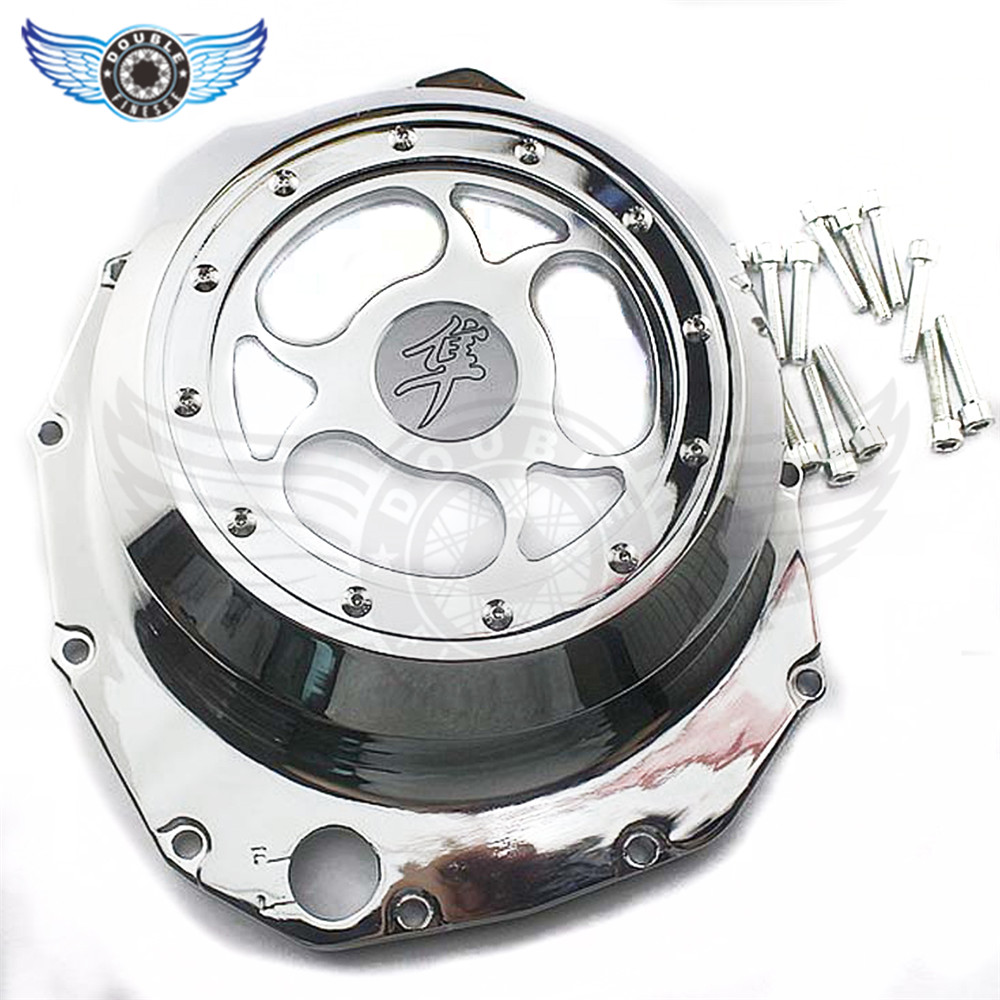 motorcycle engine covers Chrome Stator Engine Covers for SUZUKI GSXR1300 HAYABUSA  2005 2006 2007 2008 2009 2010 2011 2012 2013 aftermarket free shipping motorcycle parts for motorcycle 2006 2007 2008 2009 kawasaki zx14 zx14r zx 14r axle caps covers chrome