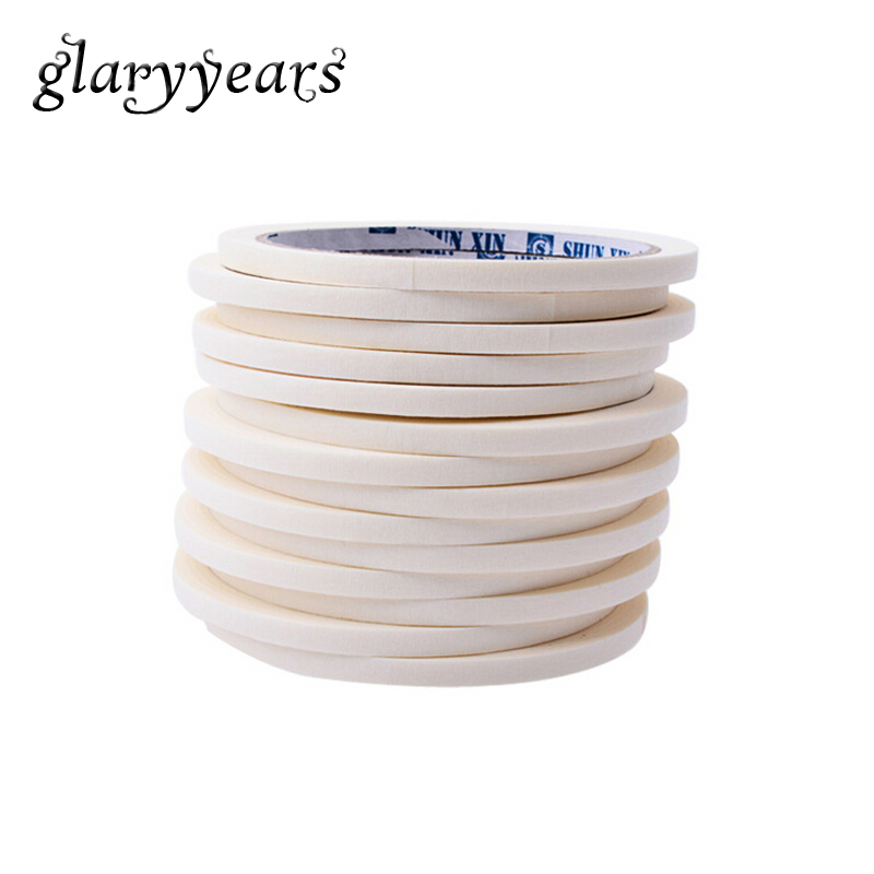 1 Piece French Manicures Roll Line Nail Sticker White Line Tape Strip Nail Art Gummed Paper Masking Pattern DIY Tips Guides Tool 1 roll 10m clear nail double side nail adhesive tape strips tips transparent manicure nail art tool