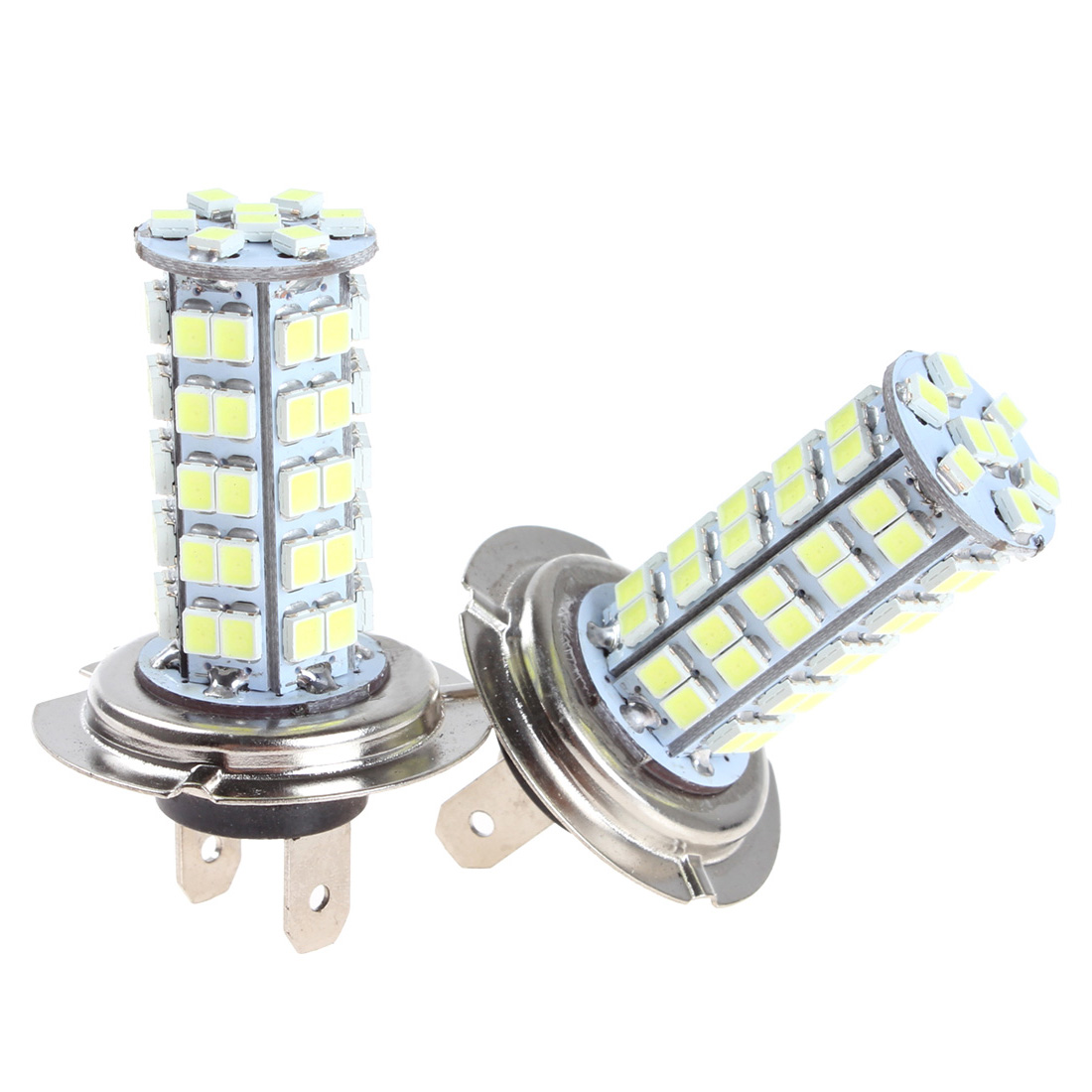 2 Pcs H7 Car Fog Light 68 SMD LEDs Xenon White Bulbs LED Signal Lamp Fit For Bentley / Mercedes / BMW / Audi 12V Vehicle