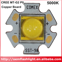 CREE MT G2 P0 LED 2step 5000K LED with 20mm / 16 mm / 14.5mm Copper Board