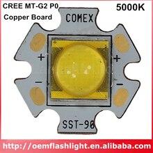 Cree MT G2 P0 led 2 ステップ 5000 18k led と 20 ミリメートル/16 ミリメートル/14.5 ミリメートル銅ボード