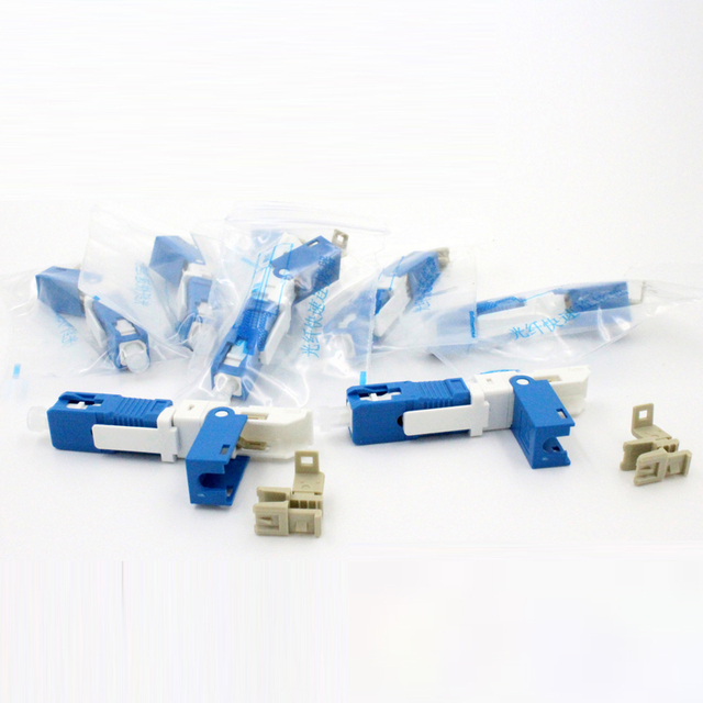 100PCS KPYSC250P-CE FTTH SC UPC Optical fibe quick connector SC PC FTTH Fiber Optic Fast Connector SC Connector Free shipping