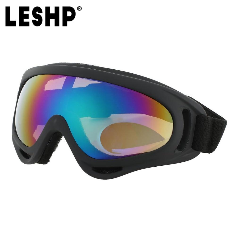 Leshp открытый Лыжный Спорт Защитные очки Гибкие ветрозащитный лыжный Велоспорт Очки туман-доказательство Лыжный Спорт очки с эластичным пов...