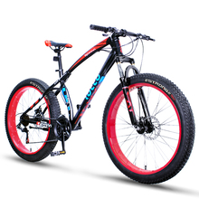 26-inch off-road beach mountain snow bike bicycle ultra-wide tires bicycles double-disc brakes women and men biking