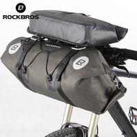 ROCKBROS Bicycle Front Tube Big Capacity Bag Waterproof MTB Cycling Handlebar Bags Front Frame Pannier Bike