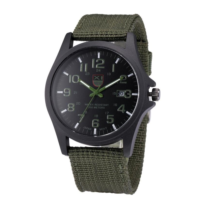 XINEW Outdoor Mens Date Stainless Steel Military Sports Canvas Analog Quartz Army Wrist Watch Reloj Hombre Deportivo Men Watch excellent quality outdoor mens watch date stainless steel military sports analog quartz wrist man watch montre homme relojes