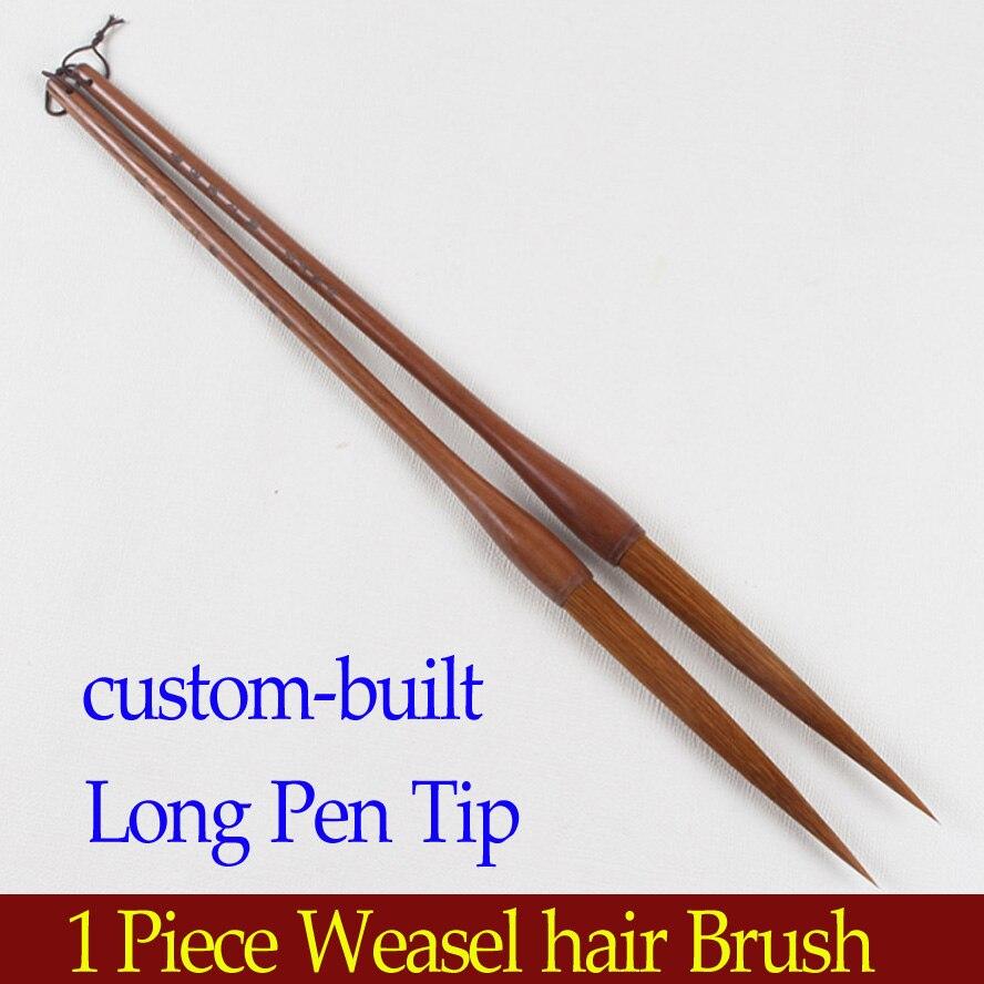 1 шт китайской каллиграфии кисти с длинными кончика пера камень Барсук щетка для волос для художника живописи каллиграфия товары для рукоде...