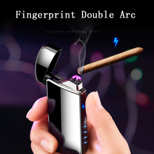 2019 New 	Electronic Cigarette Lighter Double Arc Pulsed USB Rechargeable Plasma Windproof Flameless Smoking Electric Lighter цены