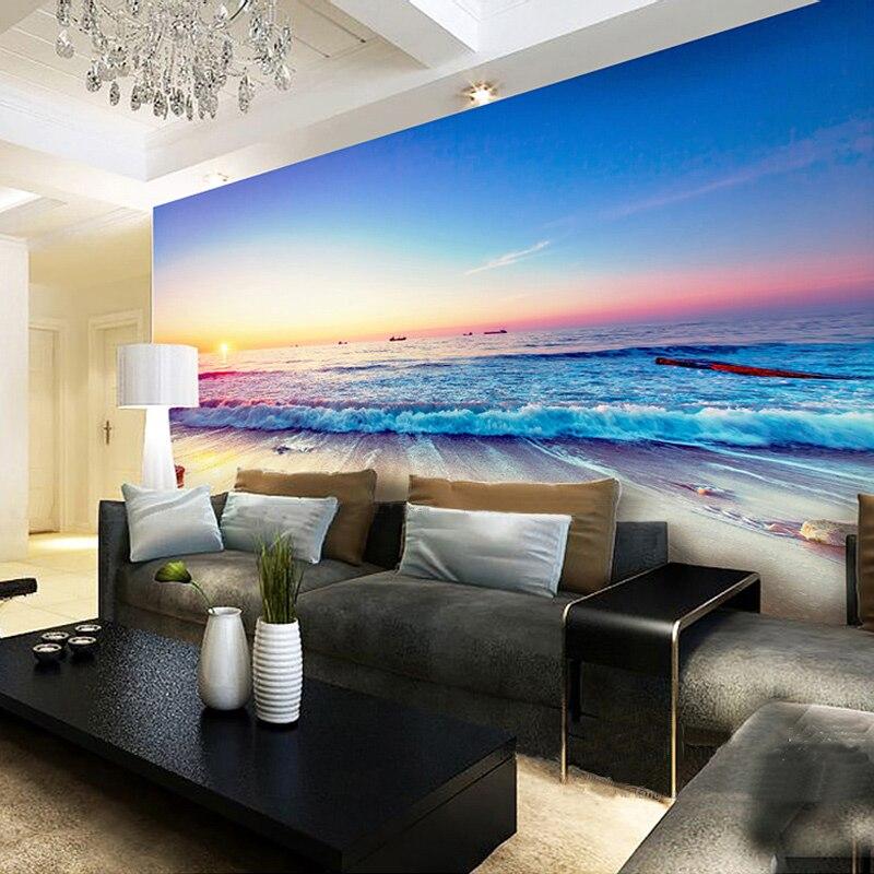 custom murals wall paper mediterranean beach mural non woven living