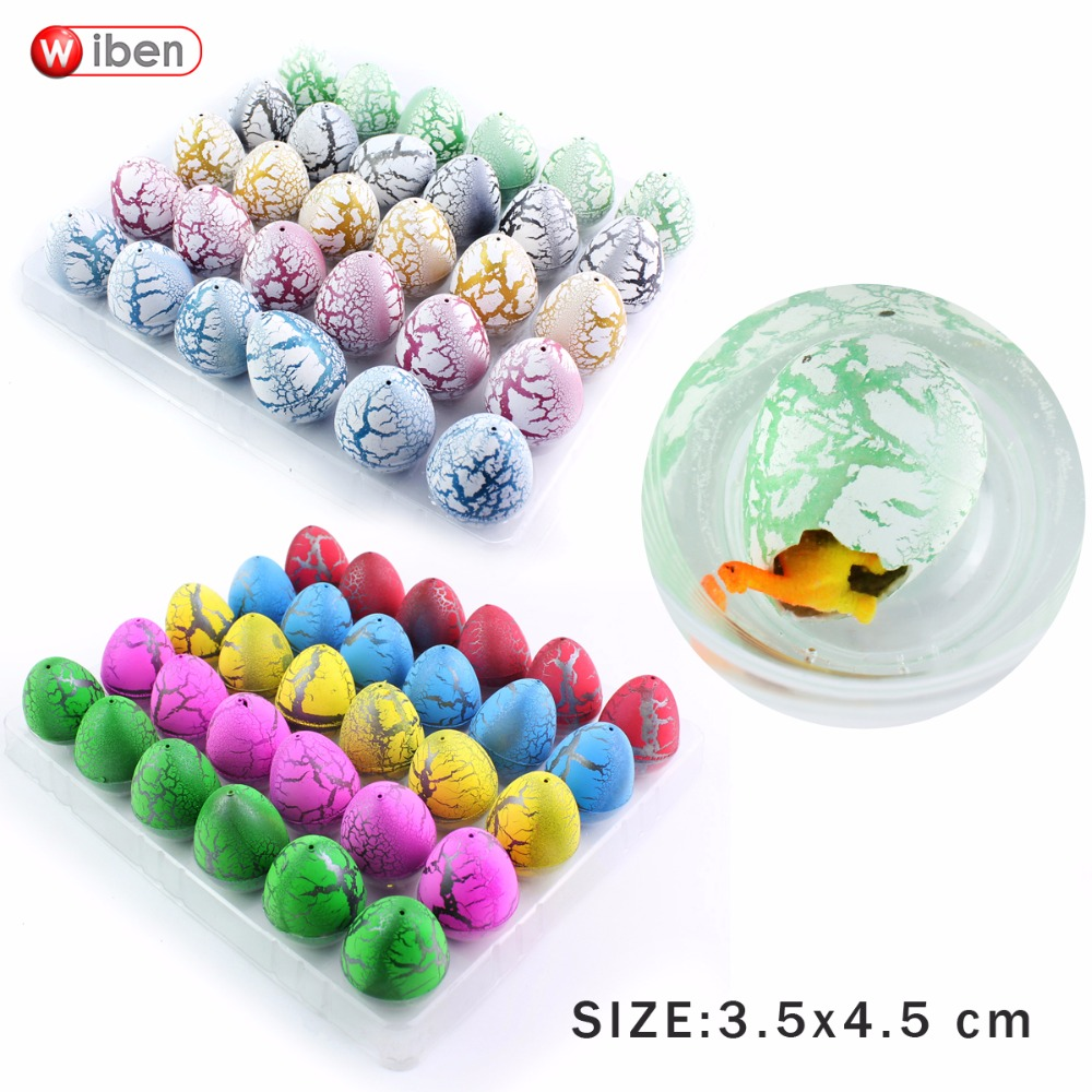 Wiben 25pcs/lot Novelty Gag Toys Children Toys Cute Magic Hatching Growing Dinosaur Eggs For Kids Educational Toys Gifts T003