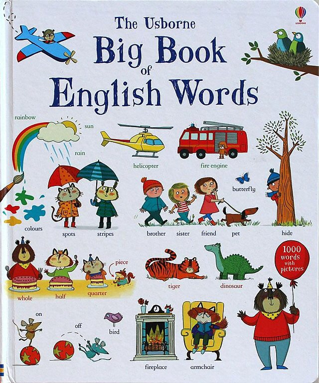 1 Pcs Big Book Of English Words Word Learning Board Book Famous Picture For Kids Girls Gifts Books For Children