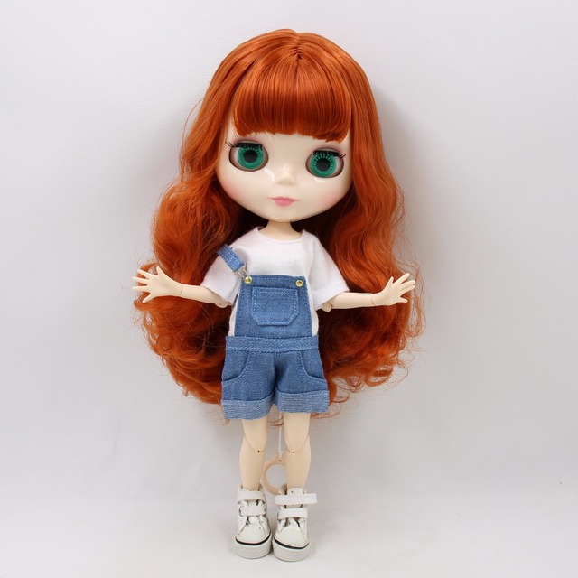 Factory Neo Blythe Doll Red Brown Hair Jointed Body 30cm