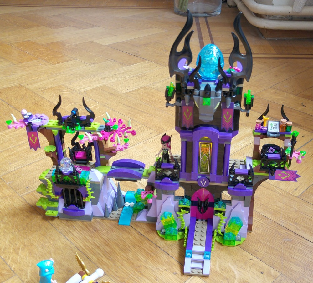 New Elves fairy Magic Shadow Castle de Ragana encaja legoings elfos hada figura construyendo Bloque Ladrillos Juguetes niñas Juguete 41180 regalo niño
