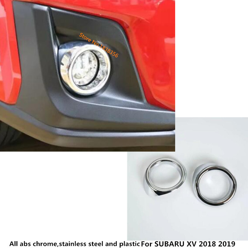 Rear Back Fog Light Lamp Ring Trim Cover Frame ABS For Subaru XV 2018 2019 Hatch