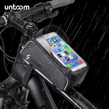 Bike Bicycle Waterproof Cell Phone Bag Holder MTB Front Frame Tube Bag Case 6.0 inch Rainproof Saddle Bag Bicycle Accessories