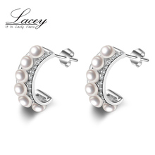 Real Natural  Freshwater Small Pearl Earrings ,Bohemia 925 sterling silver Earrings Jewelry Muilt Pearl, fine gifts for women