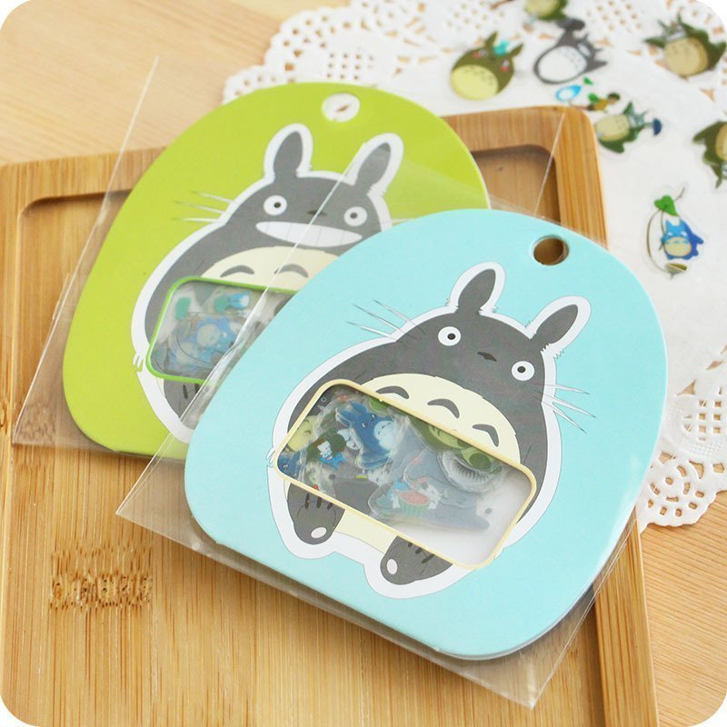 60pcs/pack Cute Kawaii Totoro DIY PVC Clear Decorative Stickers Diary Album Stick Label Decor Paper Adhensive Decor