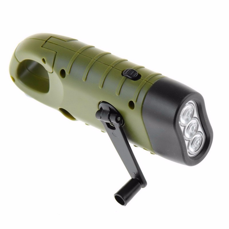 Mini Emergency Solar Flashlight 3 LED SolarLight Hand Crank Dynamo Portable Outdoor Camping Emergency Lighting Lamps Flashlight
