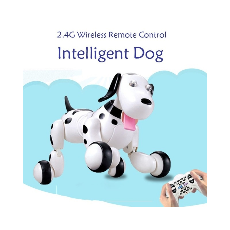 RC Walking Dog 2.4G Wireless Remote Control Smart Dog Electronic Pet Children's Toy Birthday Christmas Gift for Kids dog fence wireless containment system pet wire free fencing kd661