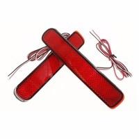 2x LED Car Styling Red Rear Bumper Reflector Light Fog Parking Warning Brake Tail Lamp For