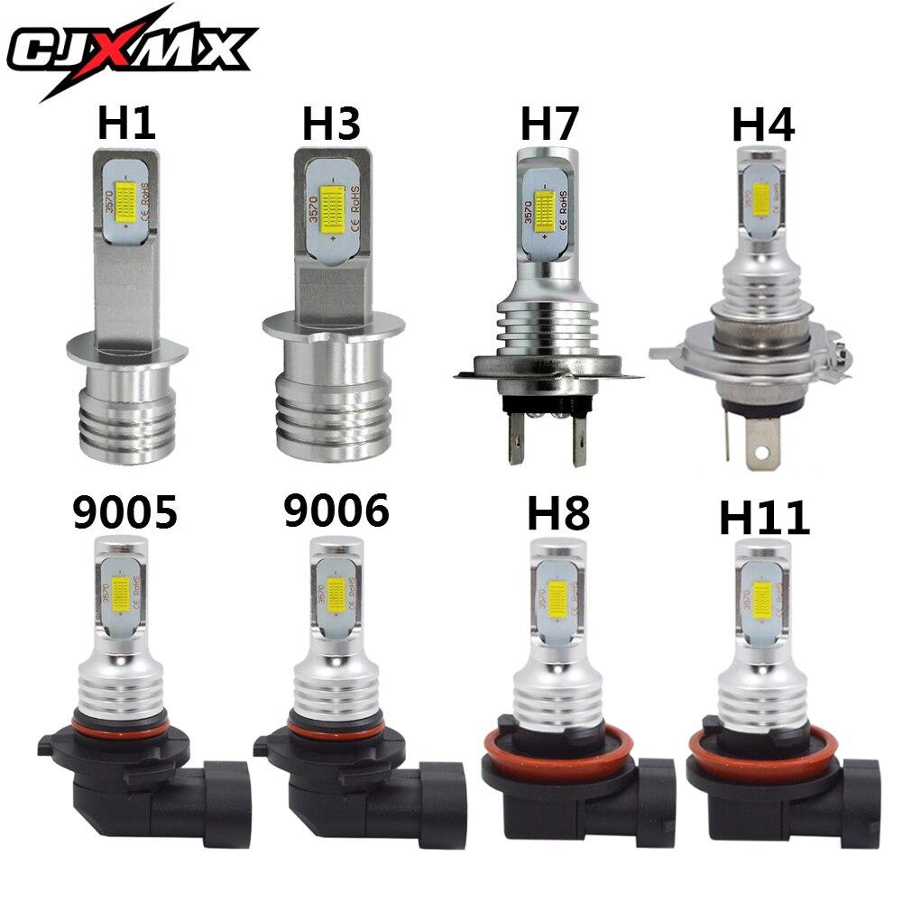 CJXMX Auto LED Nebel Licht Lampen 1600LM 6500 K Weiß 3000 K Gelb H1 H3 H4 H7 H11 9005/ HB3 9006/HB4 1156 Auto Nebel Lampe Fahren Lampen