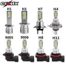 CJXMX H7 светодиодный автомобилей туман лампочки 1600LM 6500 K белый 3000 K желтый H1 H3 H4 H11 9005/HB3 9006/HB4 1156 светодиодный авто лампы вождения лампы