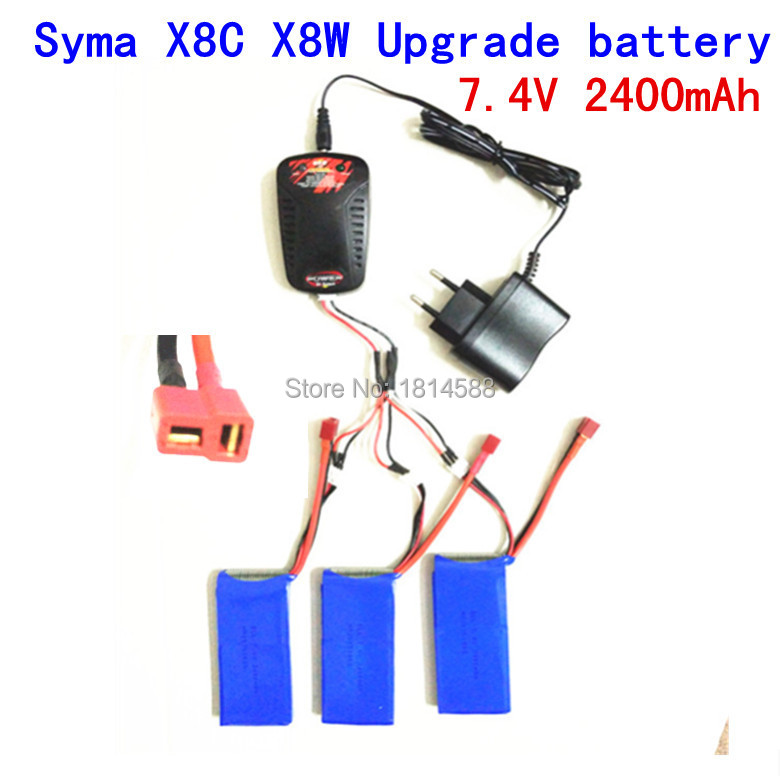 7.4V 2400mAh lipo rechargeable battery for syma X8 X8C X8W X