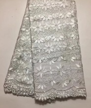 French lace fabric 5yds/pce by dhl white laces for women event dresses 2017 new arrival high quality nigerian fabrics xs-160
