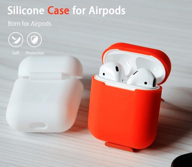 Для Apple airpods случае ТПУ Мягкий силиконовый чехол ультра тонкий  Однотонная одежда ясно рукавом Чехол протектор 91cebe3d5389c