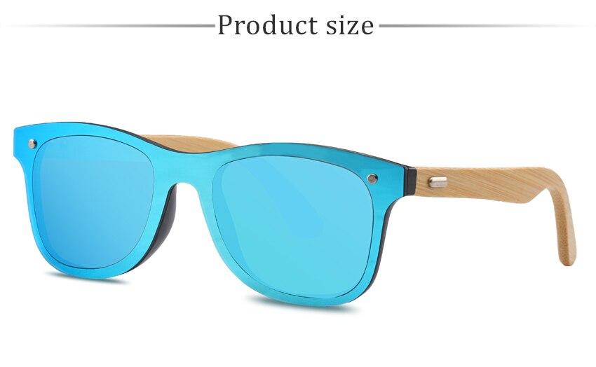fe20d1e725 Gafas de sol de madera RTBOFY para mujeres y hombres marco de bambú ...