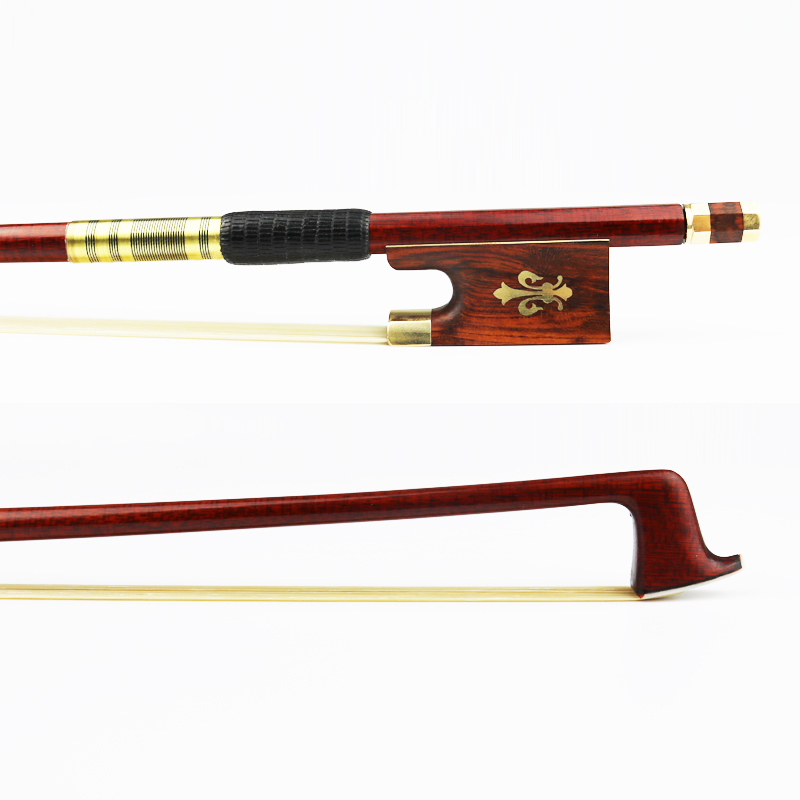 NEW 4/4 Size Carbon Fiber Violin Bow Pernambuco Skin Snakewood Frog Natural Horsehair Good Performance Violin Parts Accessories цена 2017
