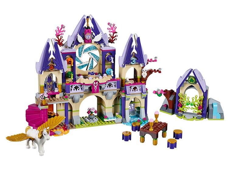 Elves  LELE  Elves Figure blocks Skyra's Mysterious Sky Castle building blocks toys for children Compatible Legoe  79225 decool 3117 city creator 3 in 1 vacation getaways model building blocks enlighten diy figure toys for children compatible legoe