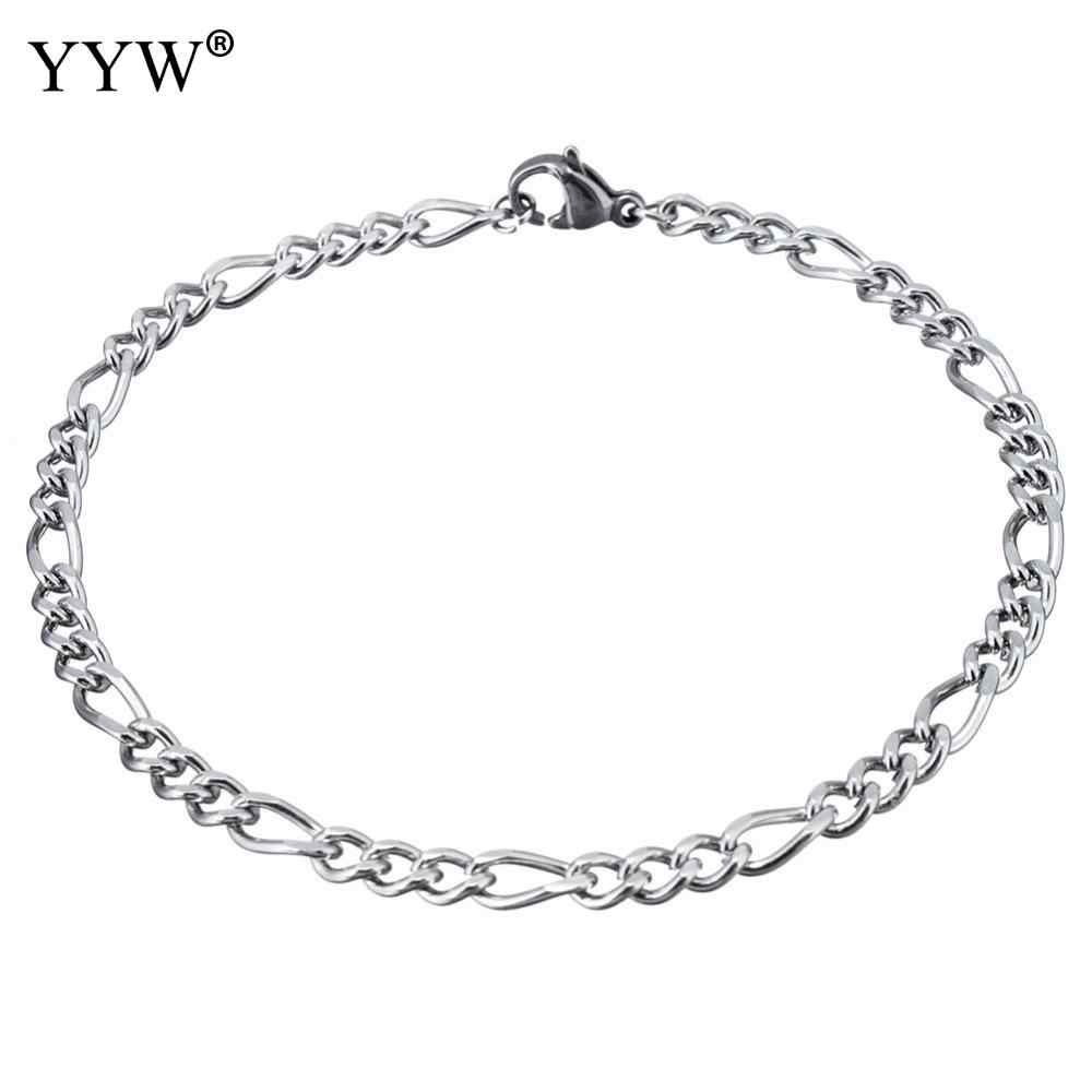 2018 mens bracelets & Bangles Stainless Steel Wrist Band Hand Chain Fashion Jewelry Silver Color Bracelet For Men Gift pulseira