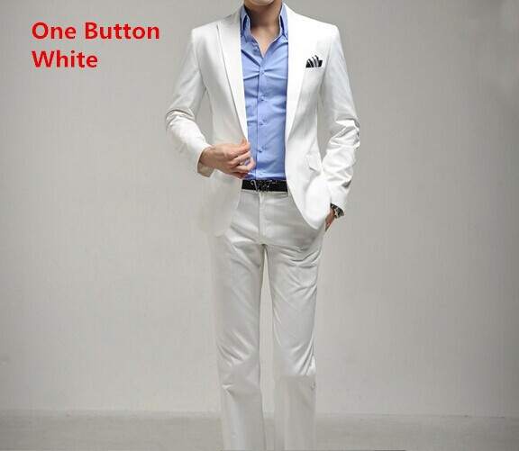one button white