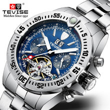 אופנה יוקרה שעונים מכאניים Tourbillon אוטומטי לוח שנה גברים שעון עסקי Waterproof שעוני יד relogio masculino