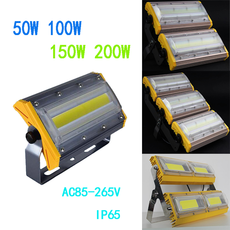 LED flood light 50W 100W 150w 200W AC85-265V 110V 220V 230V waterproof IP66 Floodlight Spotlight Outdoor Lighting IP65 Freeshipp 220v ac 110v nano 50 100