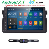 1 Din GPS Radio Android 7.1 Car NO DVD Multimedia Player For BMW E46 M3 318/320/325/330/335 Tape Recorder Navigation 2G+16G RDS