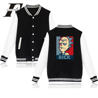 LUCKYFRIDAYF ריק ו Morty רוק Harajuku סווטשירט baskeball מעילים מזדמנים מעיל גברים היפ הופ Streetwear סגנון אנימה 4XL