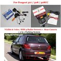 For Peugeot 307 / 308 / 308CC - Car Rear View Back Up Camera + Parking Sensors = 2 in 1 Visual Alarm Parking System