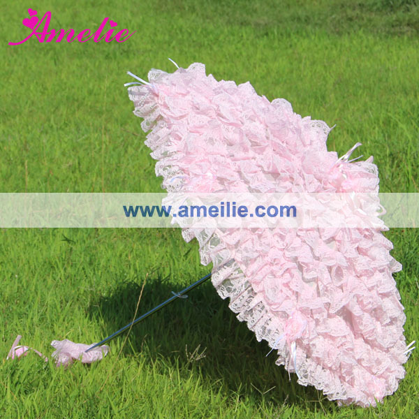 Image 2 - Free Shipping Pink  Lace Wedding Umbrellalace denimumbrella bagumbrella garden -
