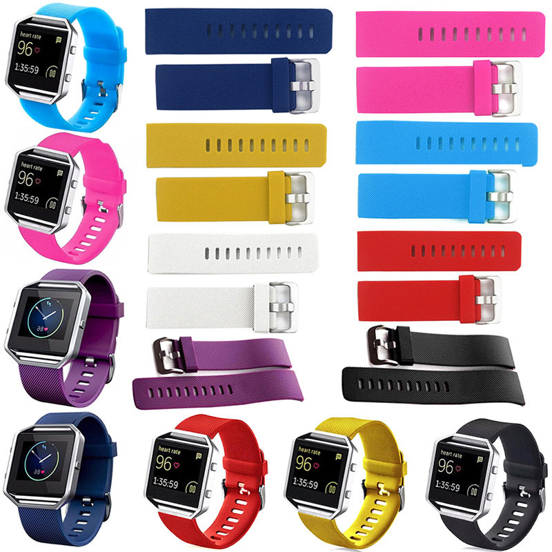 2016 Bracelet Soft Silicone Sport Replacement font b Watch b font Band Wristband Strap For Fitbit