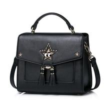 When 2017 new European women leisure all-match single shoulder bag handbag lovely starlight satchel handbag.