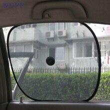 Dropship wupp Top Quality car-covers 2pcs Black Side Car Sun Shade Rear Window Sunshade Cover Mesh Visor Shield Screen Aug.3