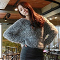 2017 New fashion korean winter women pullover cashmere elastic grey pull femme girls soft thick top knitting mohair fur sweaters