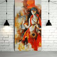 High Quality Modern Abstract Hindu Deity Portrait Oil Painting on Canvas Hand Painted Wall Art Nude Painting for Home Decor