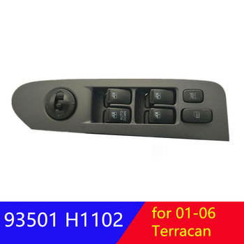 Switch assy power window main LH for hyundai Terracan electric window glass control switch Left front 93501H1120AX 93501H1120UP