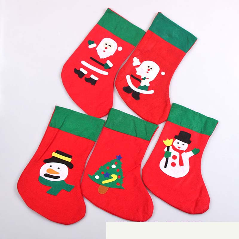 3Pcs/lot Personalized Christmas Hanging Stockings